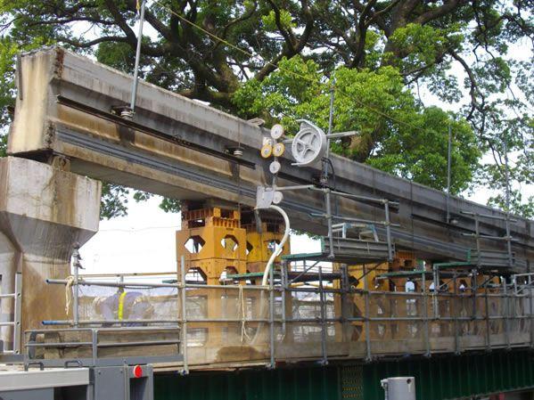 高架橋撤去工事